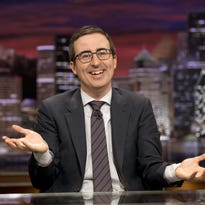 "HBO  2015  John Oliver host of ""Last Week Tonight with John Oliver,"" in an episode airing June 14, 2015.  HANDOUT Photo by Paul Schiraldi [Via MerlinFTP Drop]"
