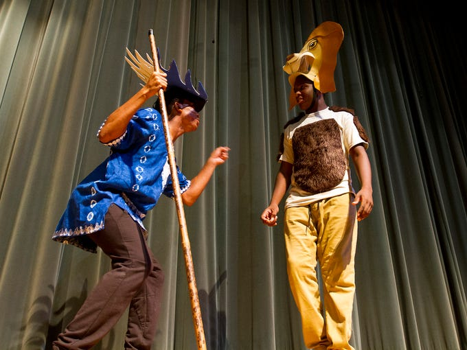 """From left, the characters of """"Rafiki"""", portrayed by"""