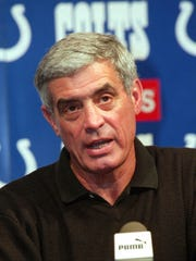 - -Indianapolis Colts head coach Jim Mora talks about his team during a news conference at the Colts headquarters in Indianapolis, Monday, Jan. 3, 2000. Mora said that linebacker Cornelius Bennett is out for the season with a knee injury that he suffered Sunday at Buffalo. (AP Photo/Tom Strattman) <%% 0 PICTURE_OK HEADER_OK 2 1 %%>