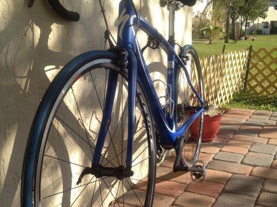 A nice clean bike, basking in the Florida sun