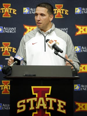 Head football coach Matt Campbell speaks about Iowa State's incoming recruiting class on Wednesday, Feb. 3, 2016.