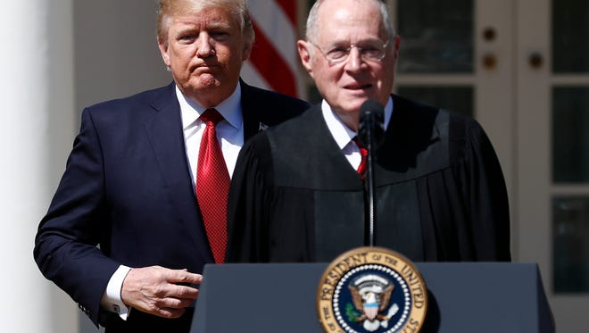 President Trump and retiring Supreme Court Justice Anthony Kennedy.