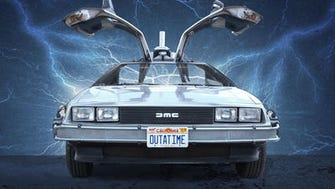 """The DeLorean gained fame as a time-travell machine in the """"Back to the Future"""" movies."""