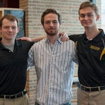Local students attending West Point in the fall are, from left, Turner Shaw, Ethan Cook and Devin Price.