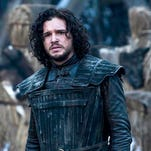 "This image released by HBO shows Kit Harington in a scene from ""Game of Thrones.""  The series garnered 19 Emmy Award nominations on Thursday, July 10, 2014, including one for best drama series. (AP Photo/HBO, Helen Sloan)"