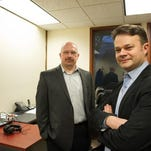 Ed Trefzger, left, and Brian McGlynn of Genesee Media Corp.