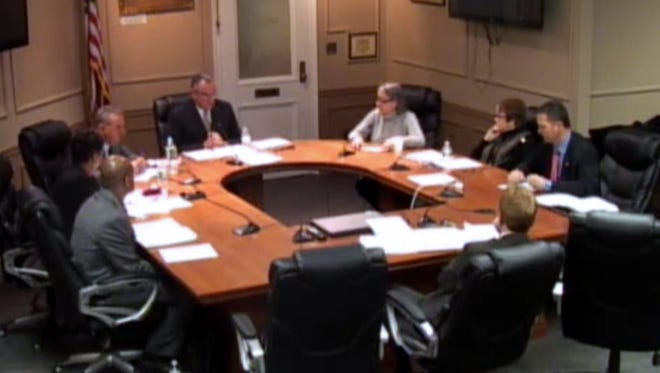 A video image from the City of Peekskill Common Council work session, Jan. 19, 2016.