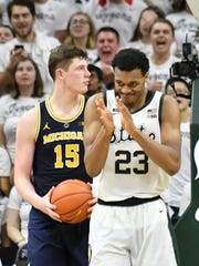 Michigan State (25-6) moved up three spots to No. 6