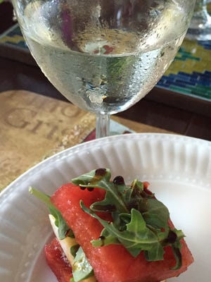 Wine on the Grove has a menu of refreshing appetizers as well as wines and beer.