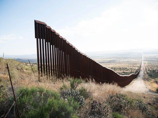 A gap in the U.S. Mexico border fence near Jacumba,