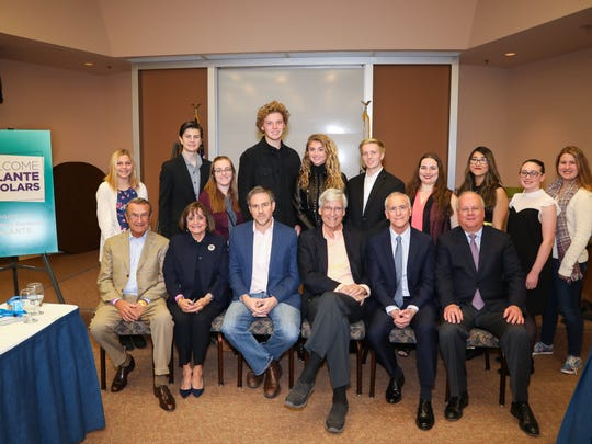 Jeannette & Ray Galante with Authors Bret Stephens, Geoff Cowan, Scott Berg, Karl Rove and the Galante Scholars