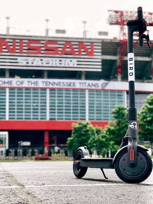 Bird scooters launched in Nashville on Monday, May 8. Photo provided by Bird