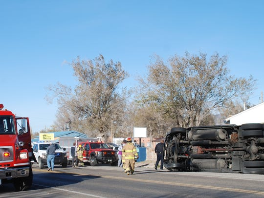 Firemen and other first responders arrived at the accident