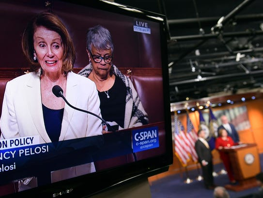 House Minority Leader Nancy Pelosi of Calif., is shown