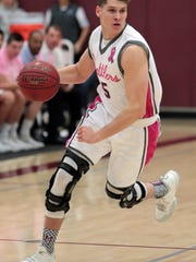 Bryan Talley sees action against Yucca Valley on Friday, Feb. 2, 2018 in Rancho Mirage. Talley suited up for senior night after missing his final season following a third knee injury in three seasons.