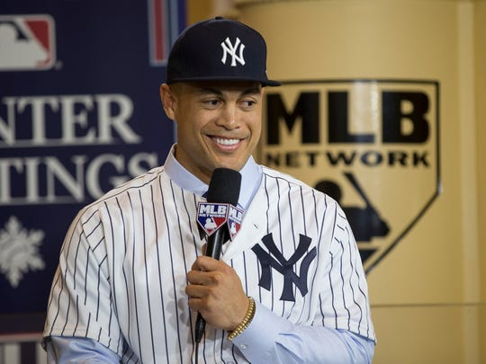 Former Marlins outfielder Giancarlo Stanton is now