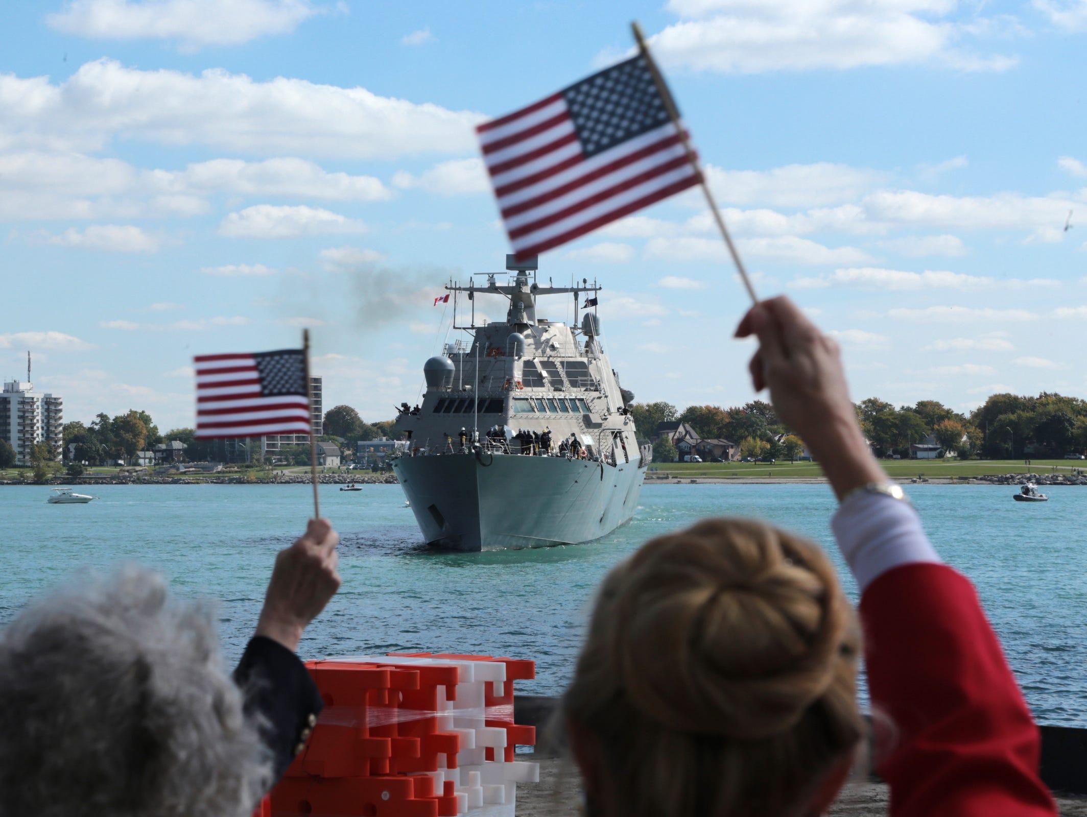 USS DETROIT LCS 7 Street Sign us navy ship veteran sailor gift
