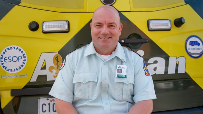 After battling colon cancer, musician Jamie Bergeron has returned to work as a paramedic with Acadian Ambulance.