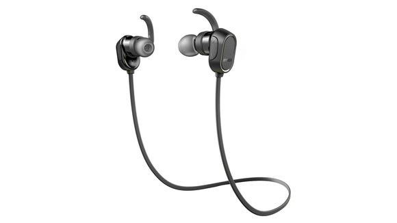 These Anker Soundbuds are cheap, wireless, and well-reviewed by users. They aren't our favorites, but they get the job done.
