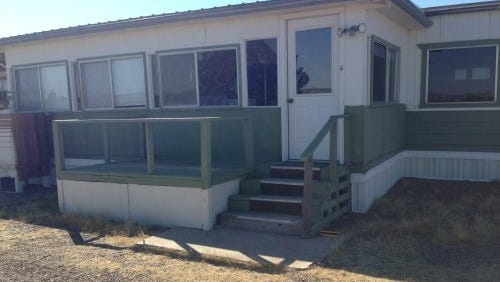 The 1073 mobile home was lacking a wheelchair ramp for a new Deming resident.
