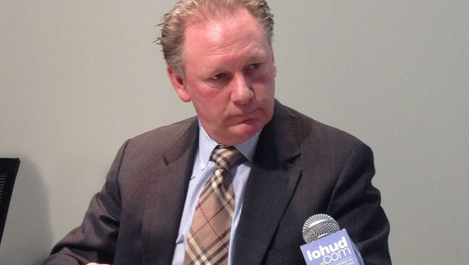 Michael Pointing discussed United Water's proposed Haverstraw Water Supply Project during a meeting with The Journal News Editorial Board in March.