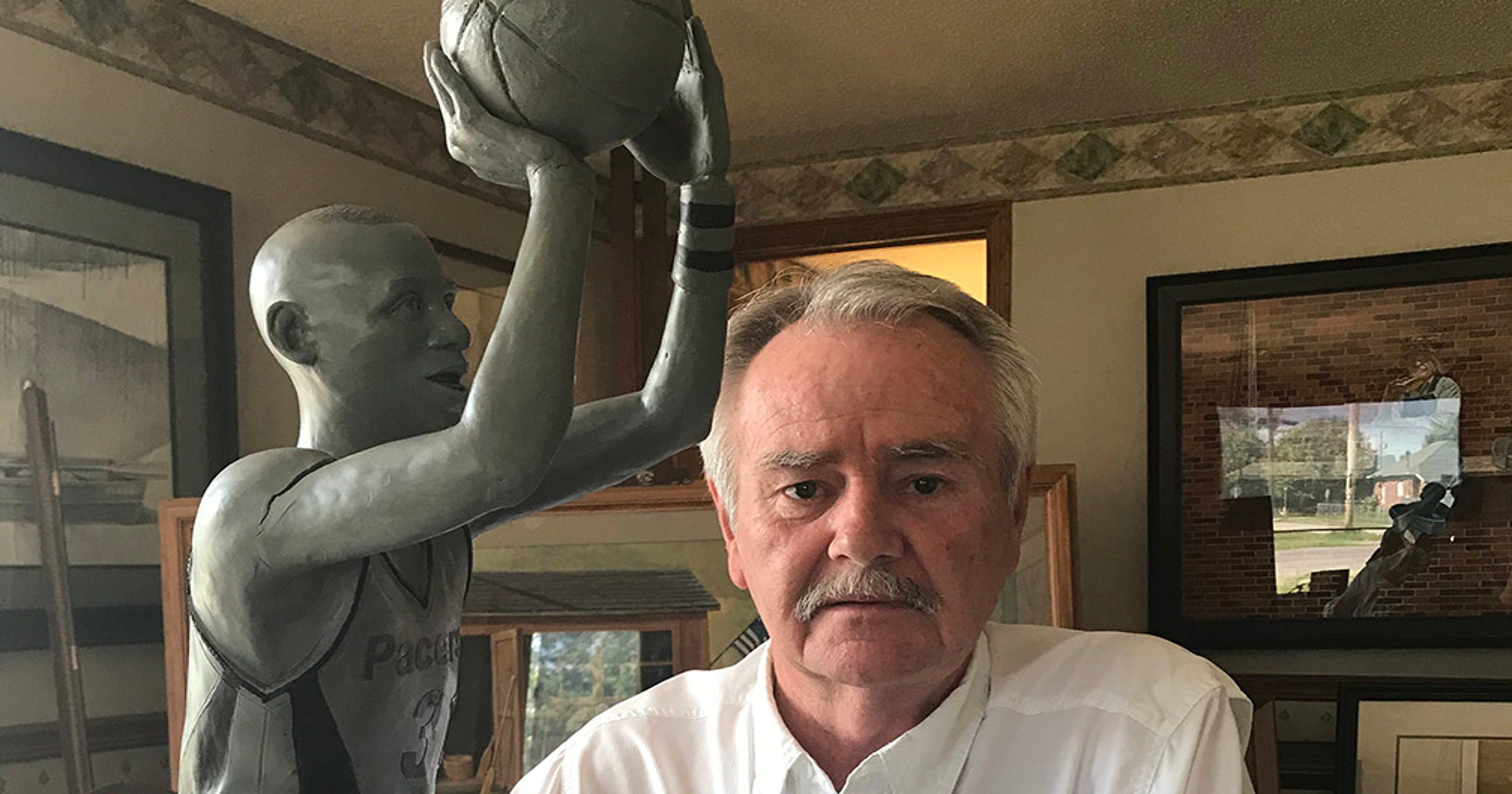 Pacers great Reggie Miller inspires sculpture decaying in Terre Haute