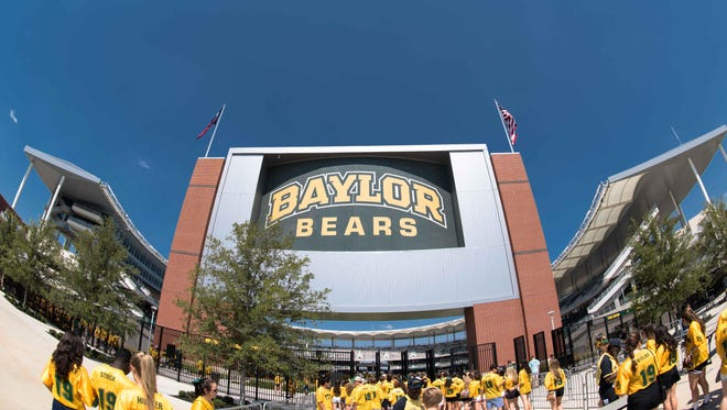 A general view of McLane Stadium before the game between the Baylor Bears and the Rice Owls.