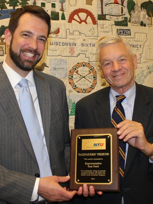 Petri Taxpayers Award 2014.JPG