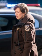 Carrie Coon as Gloria Burgle in the season finale of