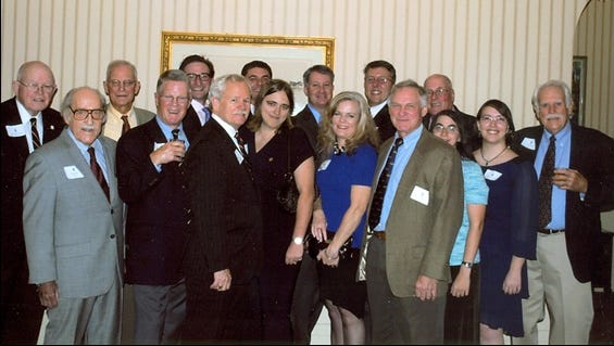Members of the Psi Upsilon Association of Elmira recently gathered for the 105th annual dinner at Elmira City Club.