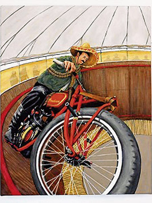 """The painting """"Pancho Villa Rides Again"""" will be auctioned off during the 20th annual Blues & BIkes Festival, sponsored by the MImbres Regional Arts Council. Courtesy Photo"""