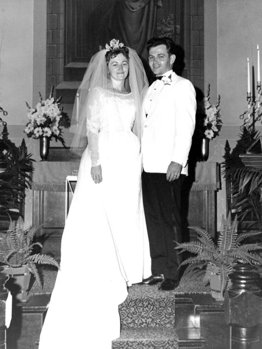 """John """"Budd"""" Huffman and Nancy Shaak Huffman, of Cleona, celebrated their 50th wedding anniversary on August 7. Submitted"""