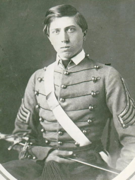 Alonzo Cushing poses in his 1861 West Point class photo. He was killed in action at Gettysburg and will receive the Medal of Honor on Nov. 6.