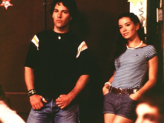 "Paul Rudd stars as Andy and Marguerite Moreau as Katie in ""Wet Hot American Summer"" (2001)."