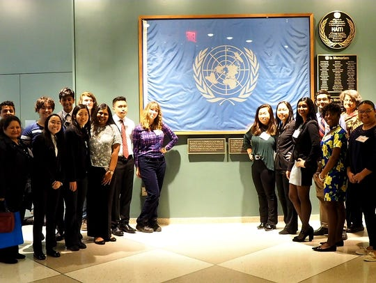 SCVTHS students and instructors at the United Nations