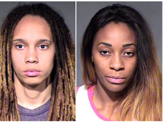 This combo of booking photos released by the Maricopa