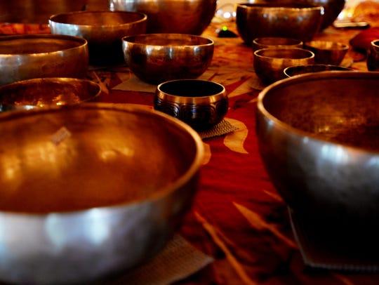 Image result for singing bowls ceremony