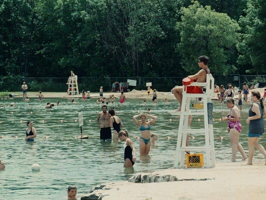 Menomonee County Park - Swimmers not detered by recent drowning