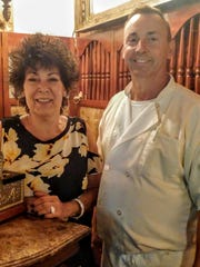 Owner Sue Smith with kitchen manager and chef Rick Hyre of John's, My Pappy's Place restaurant in Rippon, West Virginia, on Berryville Pike.