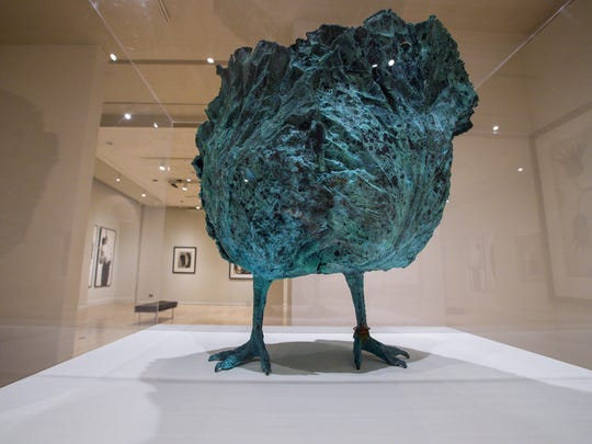 """""""Choupatte (Petit)"""" by Claude Lalanne is one of the works in the """"Sargent to Basquiat"""" exhibit. The display, which opened in September, showcases works collected by 20 UVM graduates spanning three generations."""