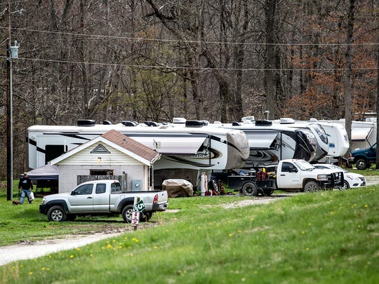 Shadow Lake is a campground outside MIltonsburg in Monroe County that houses workers building the new natural gas pipelines in the area. The campground is full, a change from recent years, which manager Deanna Stewart credits to President Donald Trump's friendliness toward fossil fuel industries.