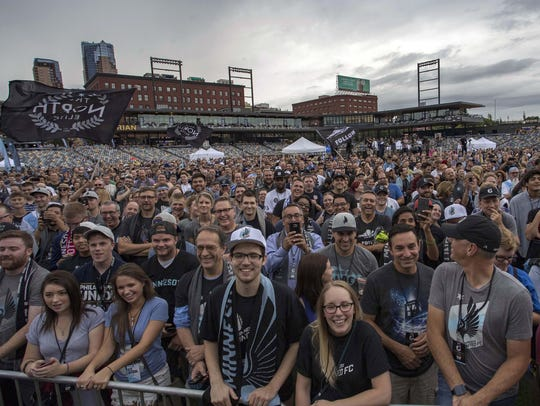 A general view of Minnesota United fans during a news
