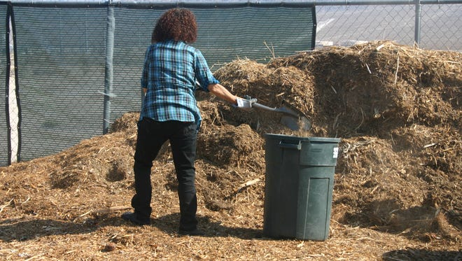 A desert gardener loads up on free mulch at the UNCE orchard in North Las Vegas. UNCE has partnered with USU to hosting a workshop in St. George.