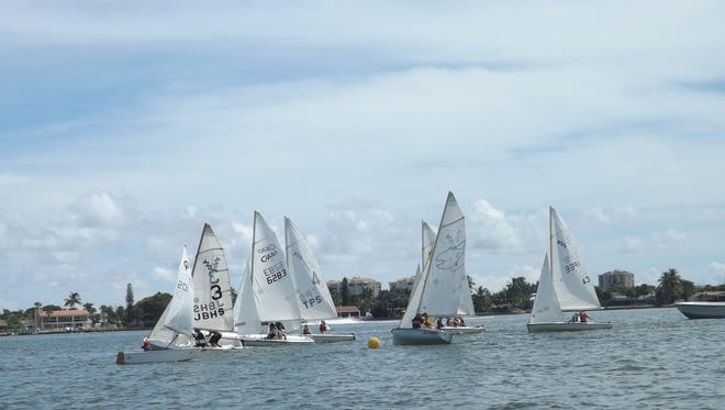 420s travel around the buoy in the Indian River in Fort Pierce.