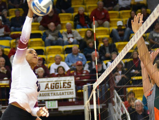 New Mexico State volleyball was picked to win the Western