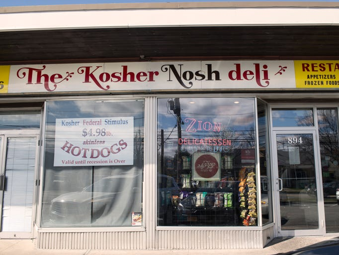 Exterior of the Kosher Nosh in Glen Rock. Esther Davidowitz