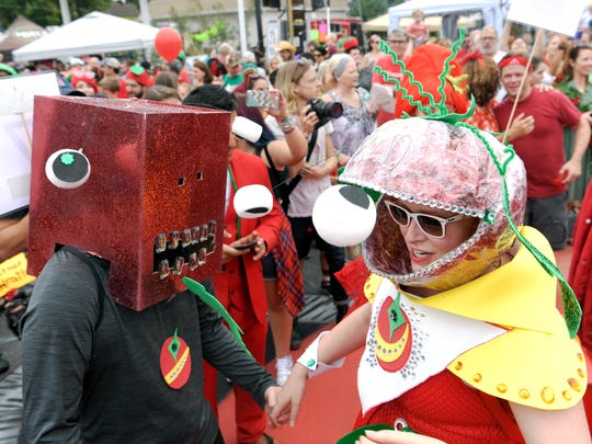 The 16th annual Tomato Art Fest takes place Aug.9-10 in the Five Points area of East Nashville.