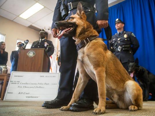 Camden County Police's new K9