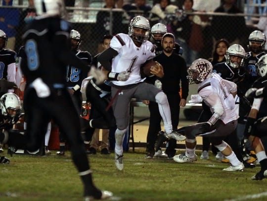 Rancho Mirage and Arroyo football action from the CIF