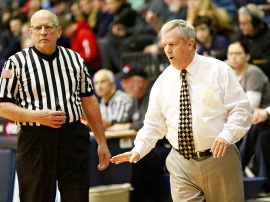 Delone Catholic head coach Gerry Eckenrode has led his Squirettes to the District 3 Class 3-A girls' basketball title game.